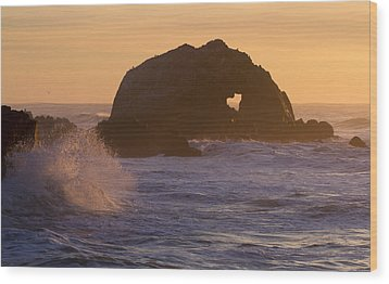 Wood Print featuring the photograph Heart Of The Ocean by Nathan Rupert