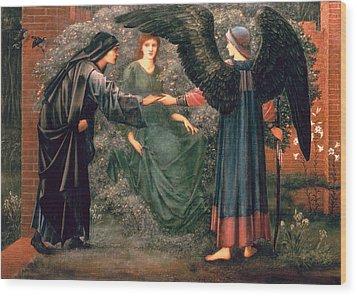Heart Of The Rose Wood Print by Sir Edward Burne-Jones