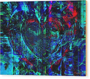 Heart Potential Wood Print by Fania Simon