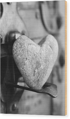 Our Love Is Like A Rock Solid Wood Print by Toni Hopper