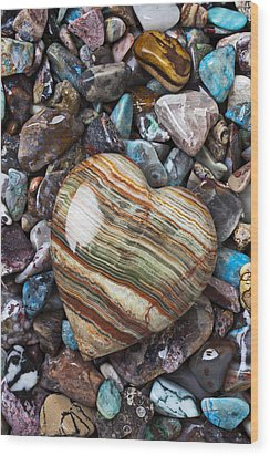 Heart Stone Wood Print by Garry Gay