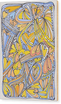 Heart Strings Wood Print by Linda Kay Thomas