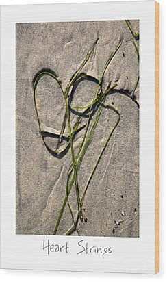 Heart Strings Wood Print by Peter Tellone