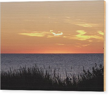 Heart Sunset Wood Print