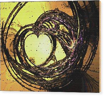 Heart Waves Wood Print