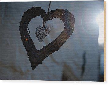 Heart With A Heart II Wood Print
