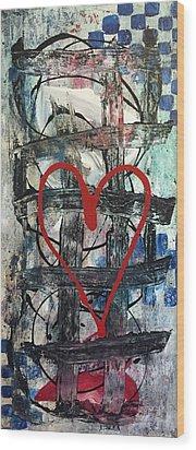 Heartbeat Wood Print