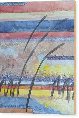 Wood Print featuring the painting Heartbeat by Jacqueline Athmann