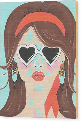 Wood Print featuring the painting Heartbreaker by Kathleen Sartoris
