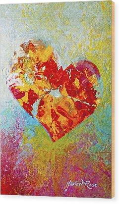 Heartfelt I Wood Print by Marion Rose