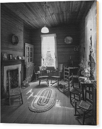 Hearthside Gathering Wood Print by Lynn Palmer
