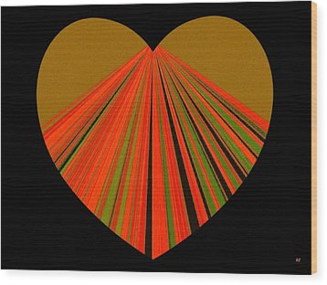 Heartline 5 Wood Print by Will Borden