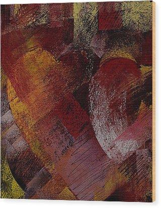 Hearts Wood Print by David Patterson