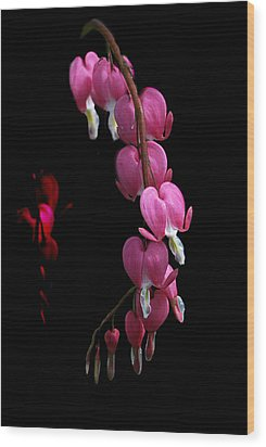 Wood Print featuring the photograph Hearts In The Dark by Susan Capuano