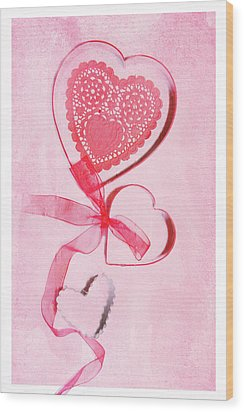 Wood Print featuring the photograph Hearts by Rebecca Cozart