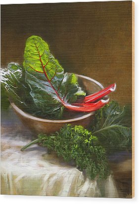 Hearty Greens Wood Print by Robert Papp