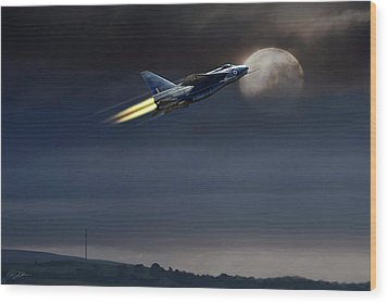 Wood Print featuring the digital art Heat Of The Night by Peter Chilelli