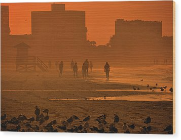 Wood Print featuring the photograph Heat Waves by John Knapko