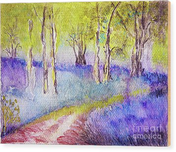Heather Glade Wood Print
