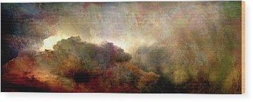 Heaven And Earth - Abstract Art Wood Print