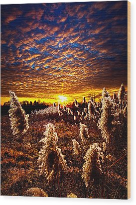 Heaven And Earth Wood Print by Phil Koch