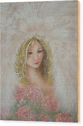 Heavenly Angel Wood Print by Natalie Holland