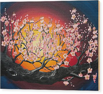 Heavenly Blossoms Wood Print by Olga Smith