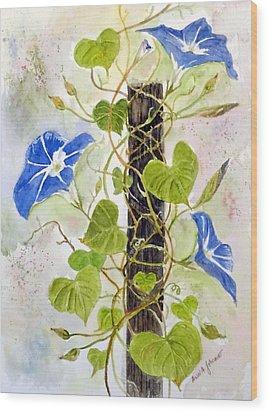 Heavenly Blue Twine Wood Print