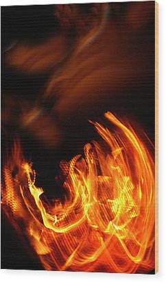 Heavenly Flame Wood Print by Donna Blackhall