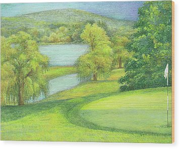 Heavenly Golf Day Landscape Wood Print