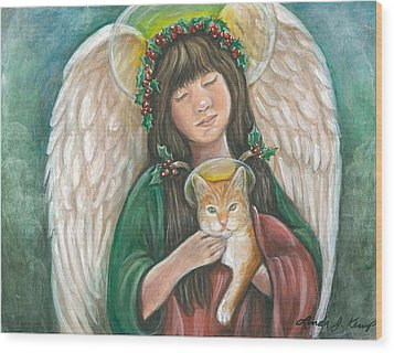 Heavenly Kitty Wood Print