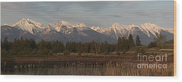 Heavenly Mission Panorama Wood Print