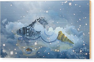 Heavenly Shells Wood Print by Leanne Seymour