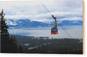 Heavenly Tram South Lake Tahoe Wood Print by Brad Scott