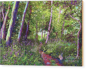Heavenly Walk Among Birch And Aspen Wood Print by Jane Small