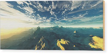 Wood Print featuring the digital art Heavens Breath 16 by The Art of Marsha Charlebois