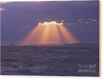 Heaven's Light Wood Print by Cindy Lee Longhini
