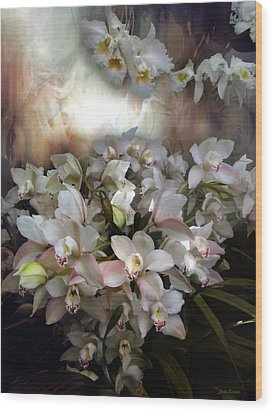 Wood Print featuring the photograph Heavens Orchids by John Rivera