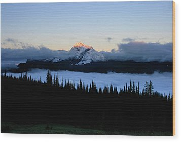 Heaven's Peak Wood Print by Dave Hampton Photography