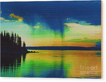 Heaven's Rest Wood Print by Diane E Berry