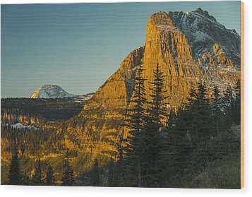 Heavy Runner Mountain Wood Print
