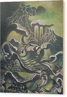 Heavy Water Wood Print