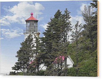 Heceta Head Lighthouse - Oregon's Iconic Pacific Coast Light Wood Print by Christine Till
