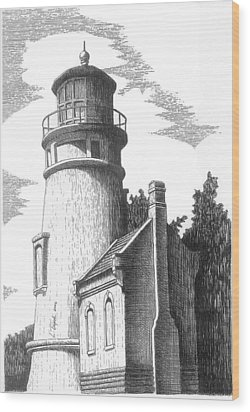 Heceta Head Lighthouse Wood Print by Lawrence Tripoli