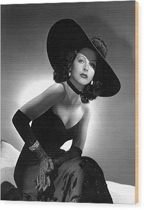 Hedy Lamarr Wood Print by Everett