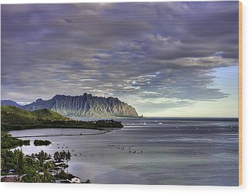 He'eia And Kualoa 2nd Crop Wood Print by Dan McManus