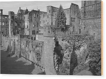 Wood Print featuring the photograph Heidelberg Castle Behind The Scenes by Corinne Rhode