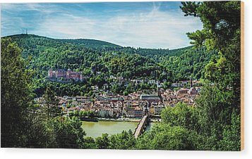 Wood Print featuring the photograph Heidelberg Germany by David Morefield