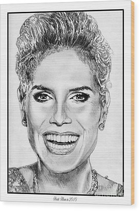 Heidi Klum In 2010 Wood Print by J McCombie
