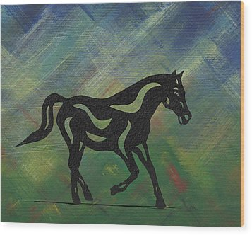 Heinrich - Abstract Horse Wood Print by Manuel Sueess